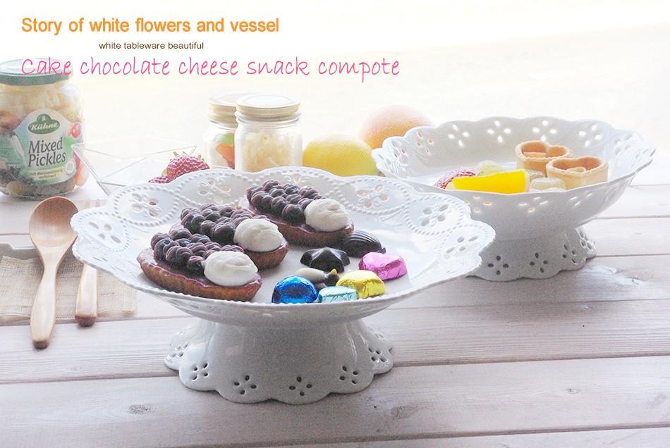 白い花と器の物語 ケーキスナック コンポート