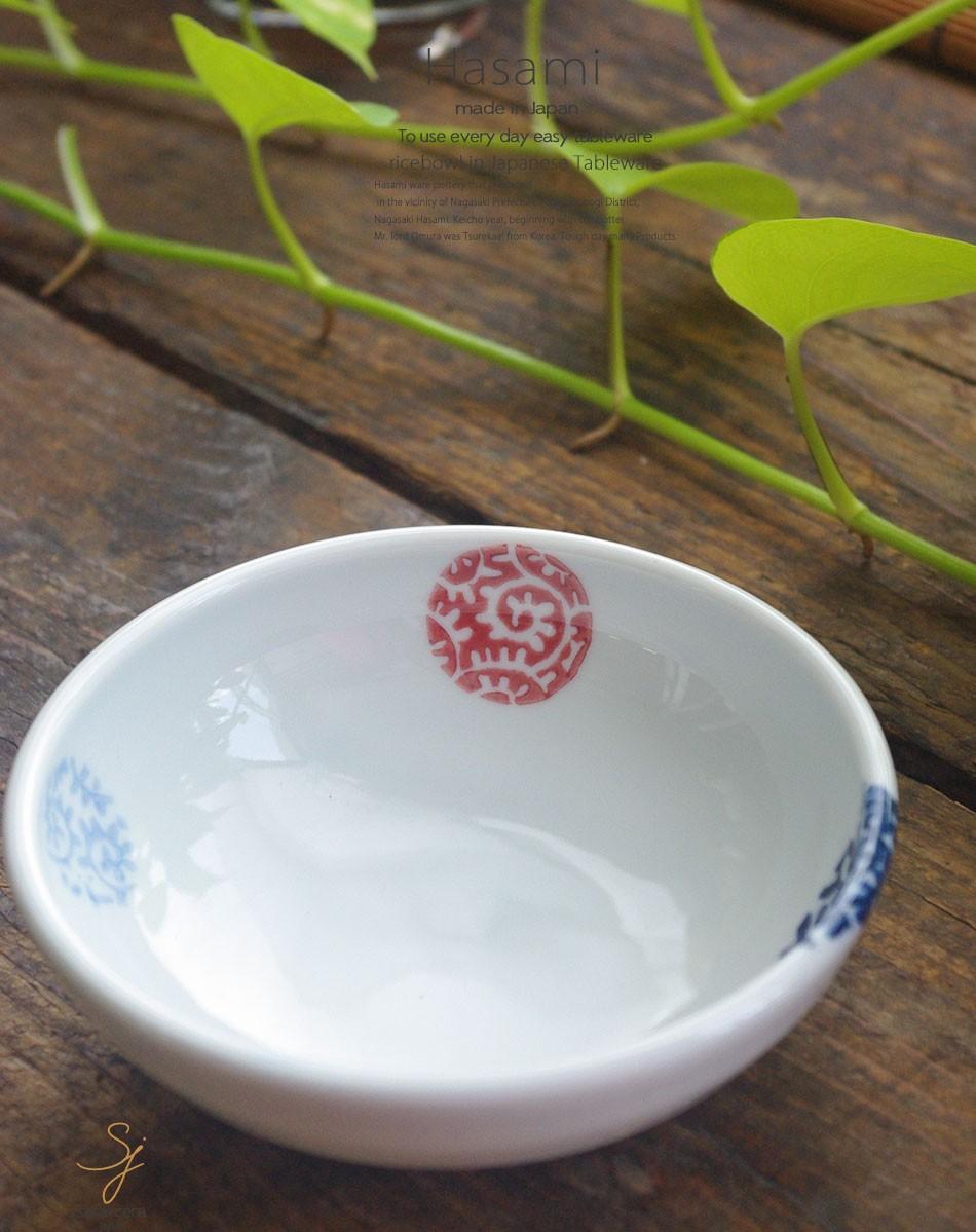 波佐見焼 平鉢 ボウル 三色タコ丸紋