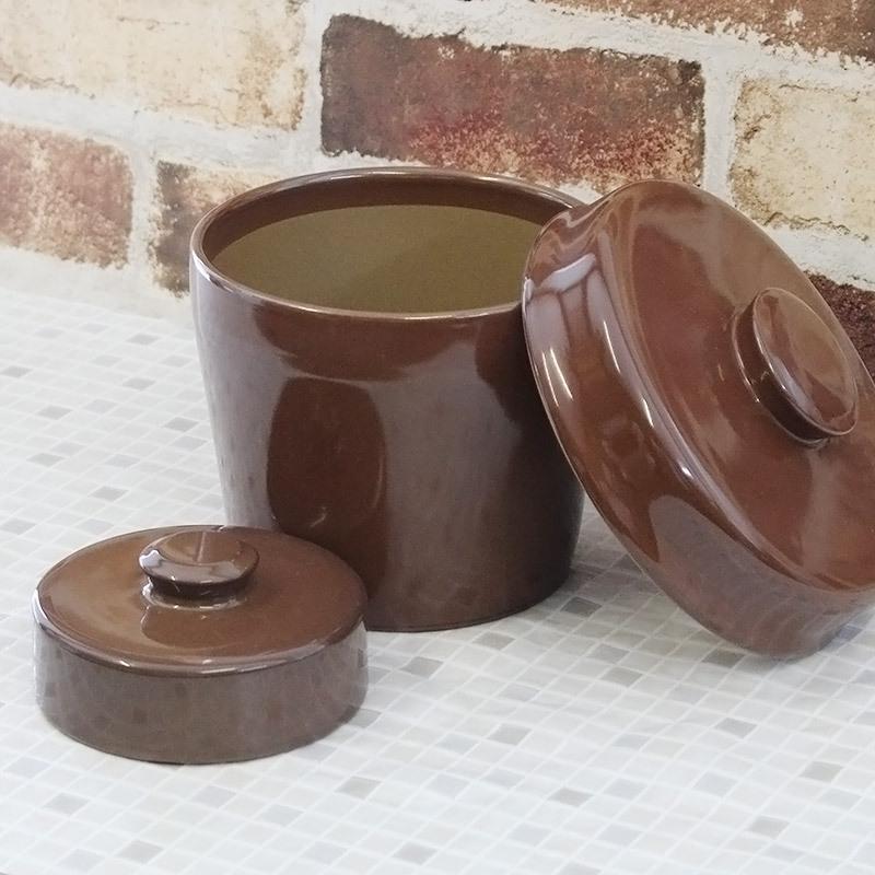 陶製 漬物容器
