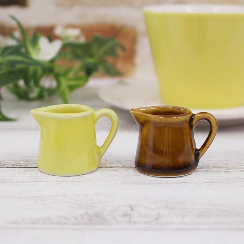 陶器製1人用ミルクピッチャー 2色選択