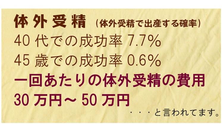 体外受精の成功率は40代で7.7%