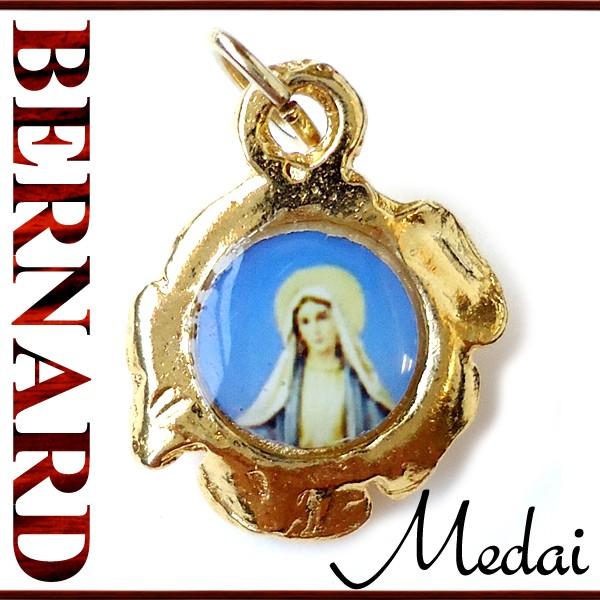 ヴィンテージアクセサリー 無原罪の聖母マリアと薔薇のメダイ