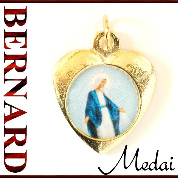 ヴィンテージアクセサリー BERNARD 無原罪の聖母マリアハート型メダイ