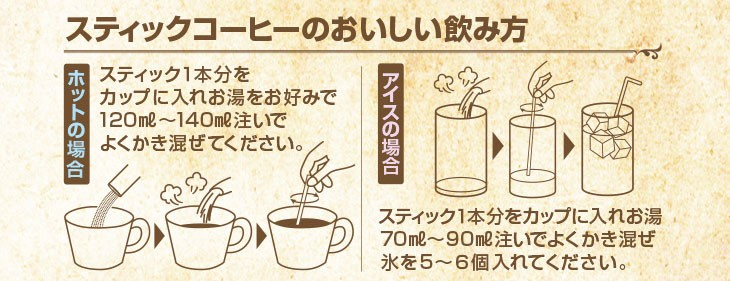 スティックコーヒーのおいしい飲み方