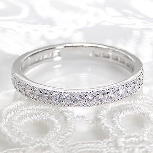 商品画像2 pt900 ダイヤモンド 0.5ct ミル打ち フルエタニティ リング