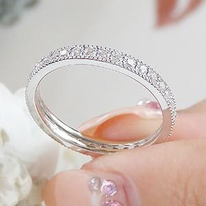 商品画像3 pt900 ダイヤモンド 0.5ct ミル打ち フルエタニティ リング