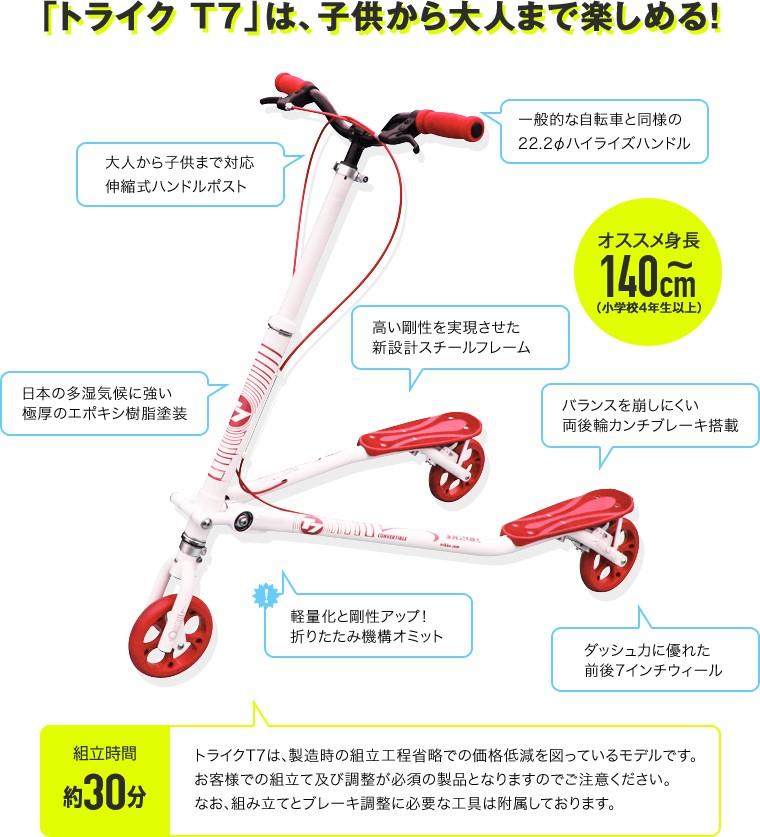 「トライク T7」は、日本人にジャストフィット!