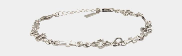 ブランド LARA Christie(ララクリスティー)のテンプル クロス ブレスレット(ホワイトレーベル)の拡大画像。