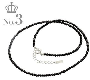 ブランド ララクリスティー 人気ランキング 第三位のブラックスピネルネックレス メンズ