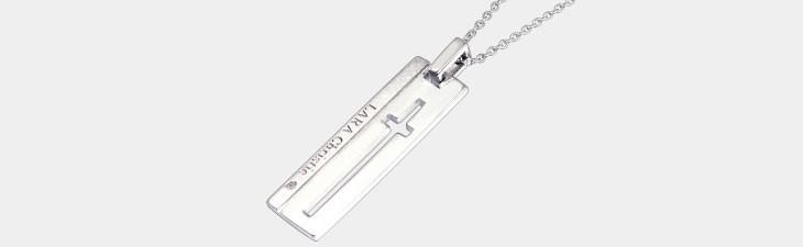 ブランド LARA Christie(ララクリスティー)のウィッシュクロス ネックレス(ホワイトレーベル)の全体像。