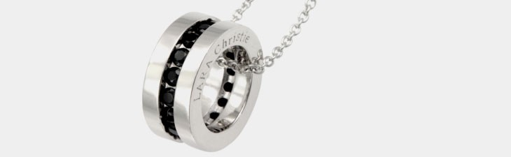 ブランド LARA Christie(ララクリスティー)のエタニティ ネックレス(ブラックレーベル)の全体像。