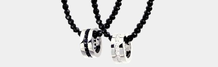 ブランド LARA Christie(ララクリスティー)のエタニティ ペアネックレス BSモデルの正面画像。