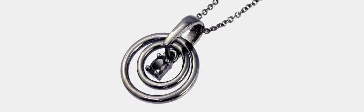 ブランド LARA Christie(ララクリスティー)のスムースリー ネックレス(ブラックレーベル)の全体像。