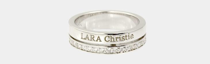 ブランド LARA Christie(ララクリスティー)のトラディショナル リング(ホワイトレーベル)の全体像。