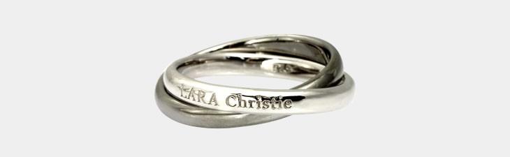 ブランド LARA Christie(ララクリスティー)のロンド リング(ブラックレーベル)の正面画像。