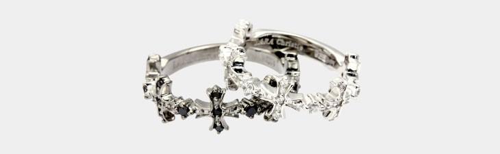 ブランド LARA Christie(ララクリスティー)のアントワープ クロス ペアリングの正面画像。