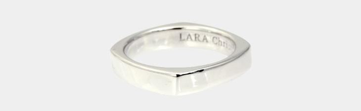 ブランド LARA Christie(ララクリスティー)のアモーレ リング(ホワイトレーベル)の全体像。