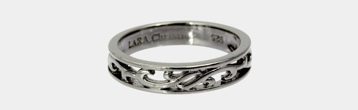 ブランド LARA Christie(ララクリスティー)のランソー リング(ブラックレーベル)の全体像。