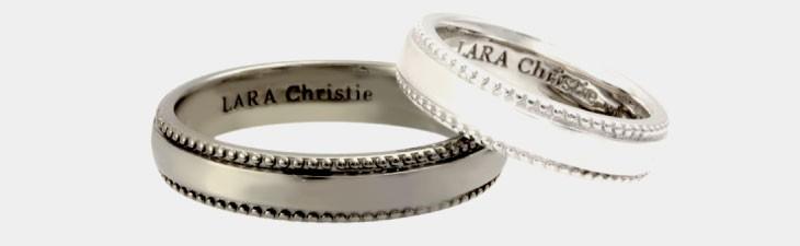 ブランド LARA Christie(ララクリスティー)のギャラクシー ペアリングの全体像。