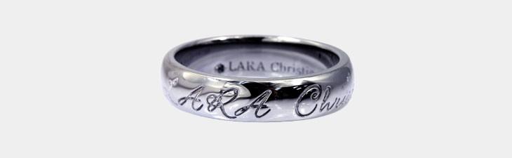 ブランド LARA Christie(ララクリスティー)のロマンス リング(ブラックレーベル)の全体像。