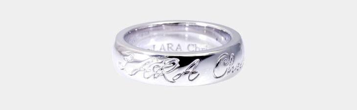ブランド LARA Christie(ララクリスティー)のロマンス リング(ホワイトレーベル)の全体像。