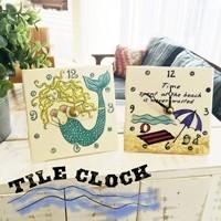 ★Hawaii/タイル時計★