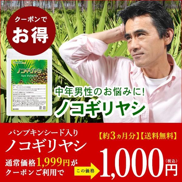 【売り切れ次第終了】 お一人様4個まで! ノコギリヤシ約3ヵ月分がクーポンで1000円!