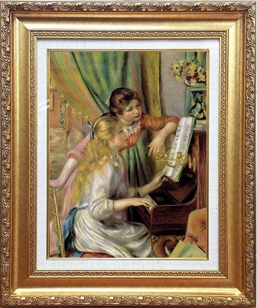 「ピアノに寄る少女たち」オーギュスト・ルノワール