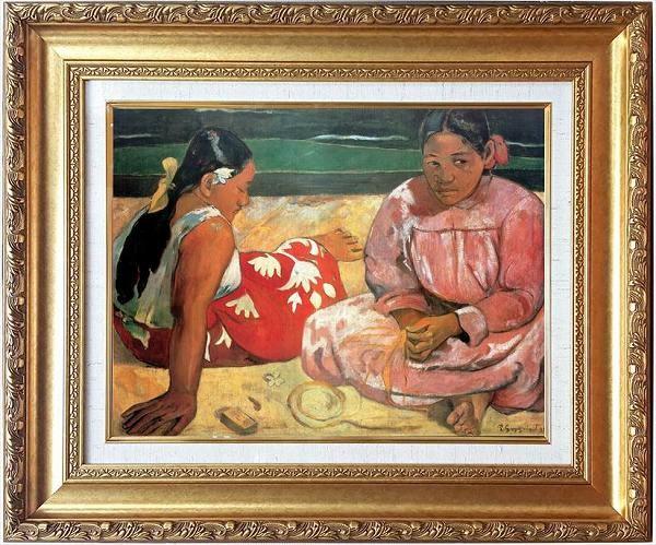 「タヒチの女」ゴーギャン