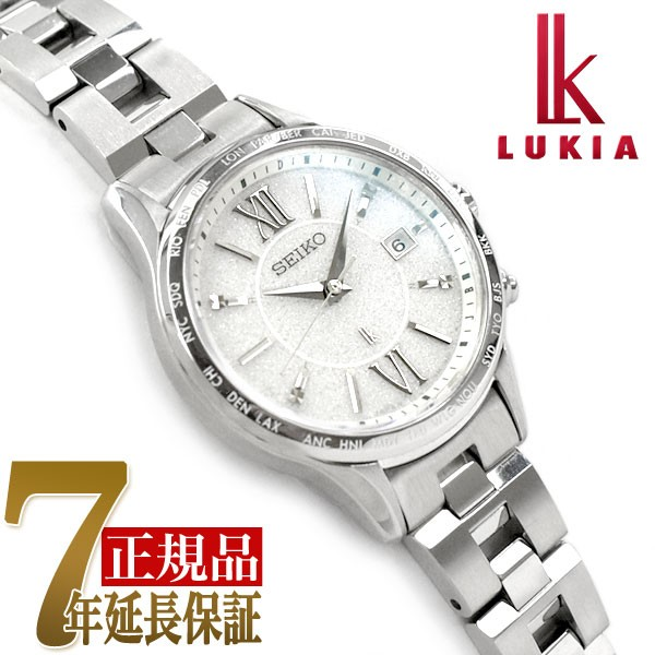 78ecf082c1 セイコー ルキア SEIKO LUKIA ペアモデル ソーラー 電波 腕時計 レディースモデル 綾瀬はるか SSVV035