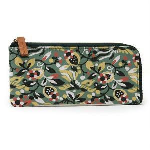 キャンバス スリム 横長 薄型 財布 L型ファスナー<seisuke88>和柄 seisuke88-kyoto 06