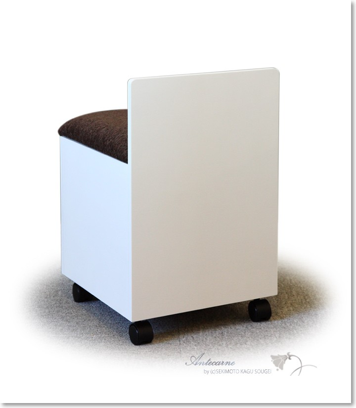 椅子I ホワイト キャスター付き