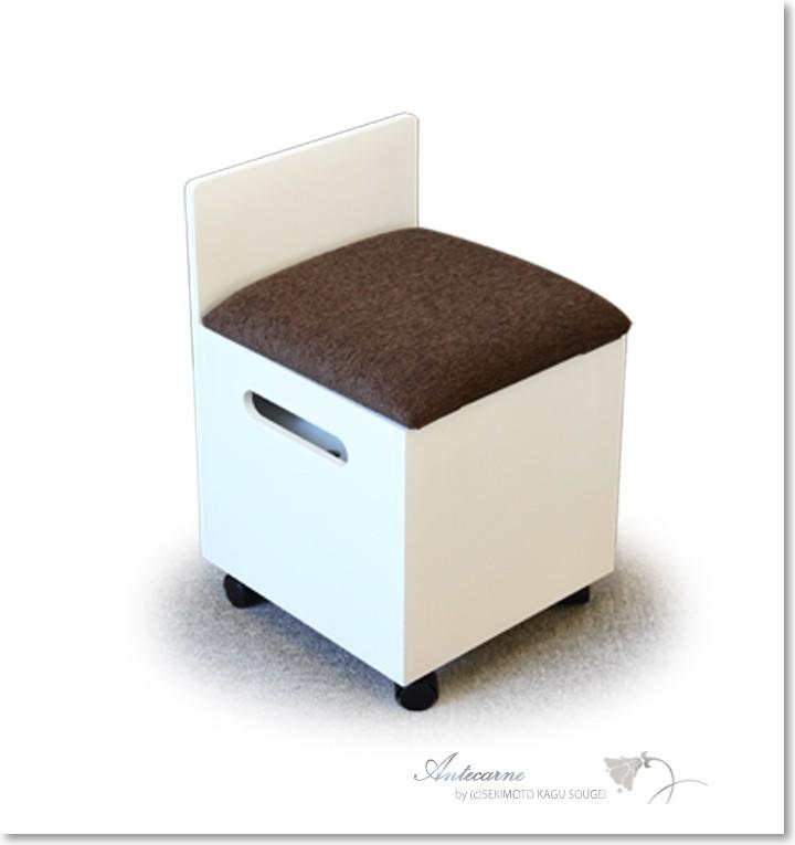 椅子I 箱椅子 ホワイト