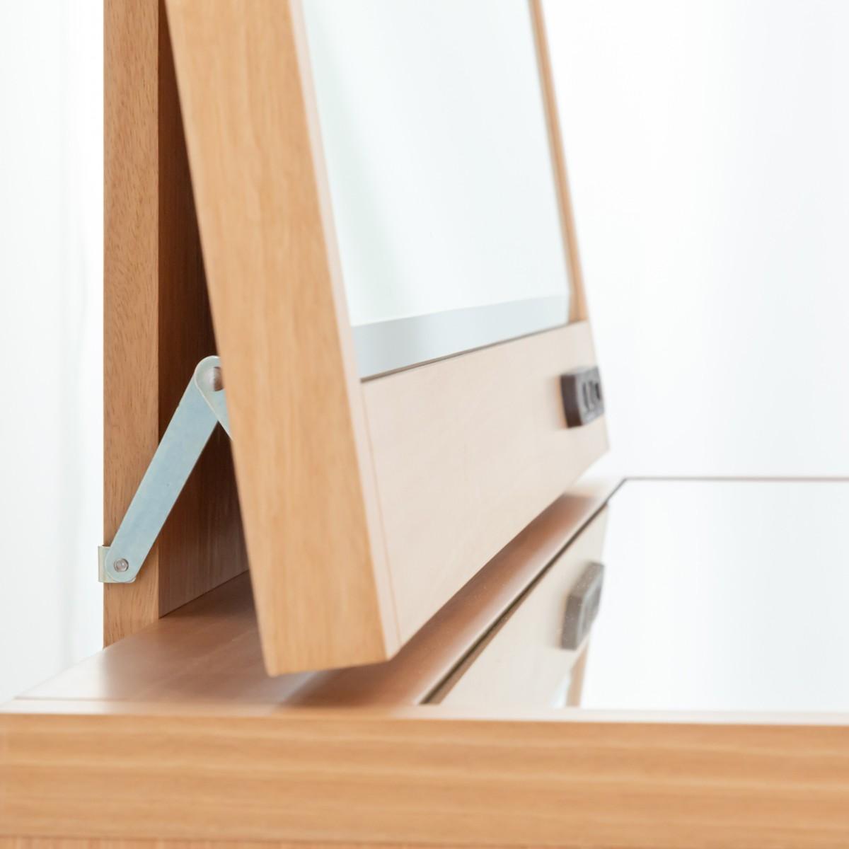 ミラーの角度調整付きドレッサー、1面鏡ミラー