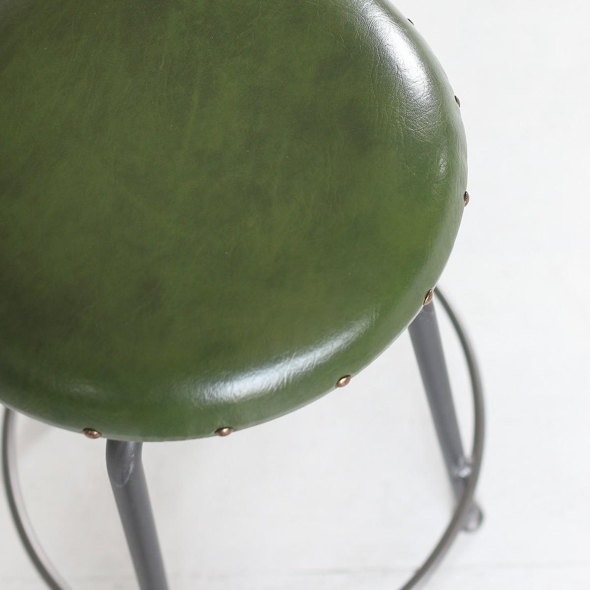イカピーレザーチェアグリーン色ikp