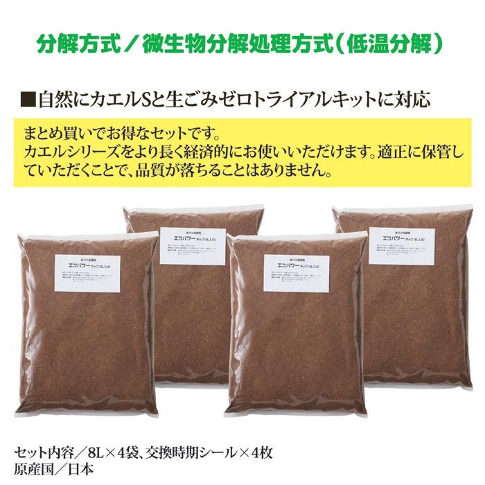 交換用チップ材エコパワーチップ8W×2箱セット(8L入×4袋)
