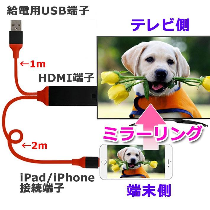 HDMI iPhone TV テレビ 接続