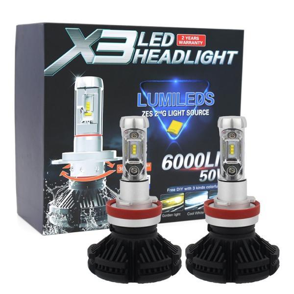 LEDヘッドライトフォグランプ H4 H1 H3 H7 H8/H11/H16 HB3 HB4車検対応 PhilipsZES2チップ 50W 3000K/6500K/8000K変色可能 12000LM 2本セット|sendaizuihouen-store|14