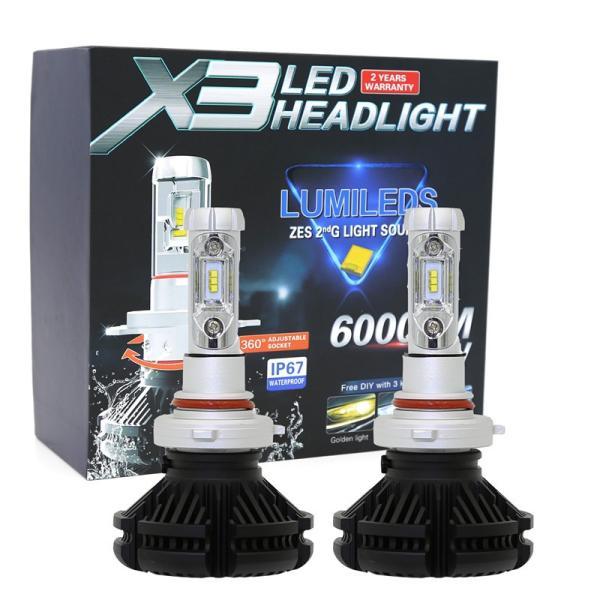 LEDヘッドライトフォグランプ H4 H1 H3 H7 H8/H11/H16 HB3 HB4車検対応 PhilipsZES2チップ 50W 3000K/6500K/8000K変色可能 12000LM 2本セット|sendaizuihouen-store|12
