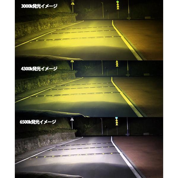 LEDフォグランプヘッドライト H3 H8/H11/H16 HB3 HB4 3色温度切替 記憶機能付きPhilips LUMLEDS社製チップ 66W 6600Lm 3000k/4300k/6500k 2本セットクリスマス|sendaizuihouen-store|11