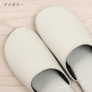 スリッパ 来客用 ヨシエイナバ フュレン Sサイズ ブラック/アイボリー|senkomat|09