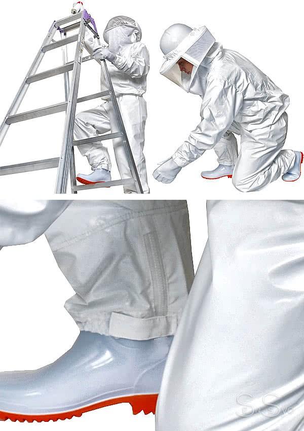 蜂防護服ラプター ゲイル作業風景
