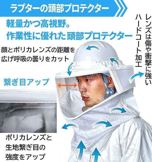 軽量 高視野 ラプター ゲイルの頭部プロテクター
