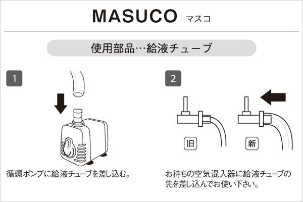 循環ポンプ ホームハイポニカ MASUCO マスコ の接続方法