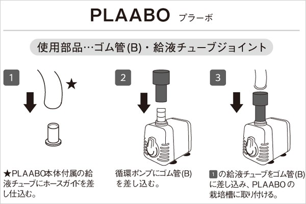 循環ポンプ ホームハイポニカ PLAABO プラーボ の接続方法
