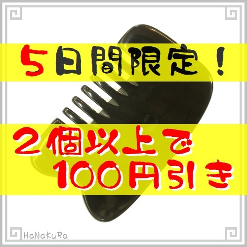 5日間限定!店内商品2個お買い上げで100円引き