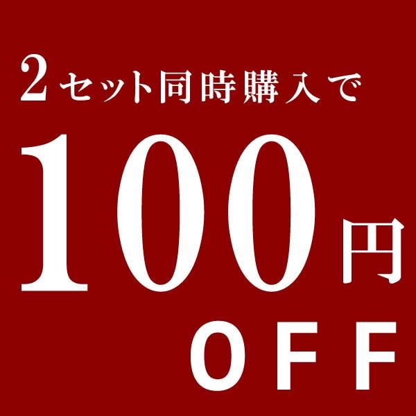 2セット同時購入で使える100円OFFクーポン