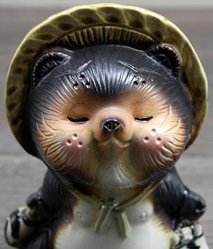 しがらきやき狸 陶器たぬき 信楽タヌキ やきものたぬき タヌキ置物