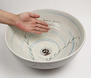 手洗い鉢 陶器洗面ボウル しがらきやき手洗器