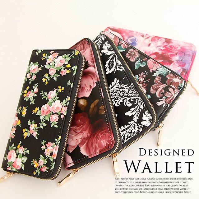 2d5a8e26ed46 長財布 レディース 人気 ブランド かわいい 薄い 花柄 ラウンド ...